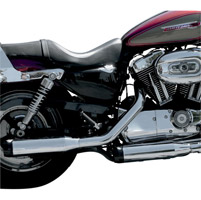 LA Choppers Chrome Slip-On Muffler Set With Black Stealth Tips