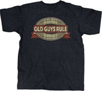 Old Guys Rule Oak Cask Oval Dark Heather T-shirt