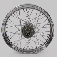 40-Spoke Complete Chrome Rear Wheel Assembly, 18