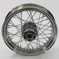 40-Spoke Complete Chrome Rear Wheel Assembly, 17