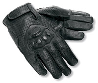 Interstate Leather Black Leather Driving Gloves