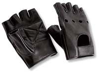 Interstate Leather Fingerless Riding Gloves