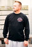 J&P Cycles® Bolt Coaster Black Long-Sleeve T-Shirt