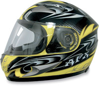 AFX FX-90 W-Dare Yellow Full Face Helmet