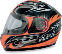 AFX FX-90 W-Dare Orange Full Face Helmet