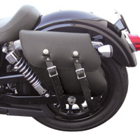 Leatherworks, Inc. Left Side Solo Saddlebag for Dyna