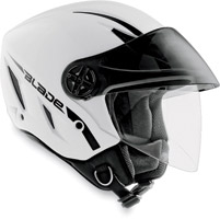 AGV Blade Mono White Open Face with Face Shield Helmet