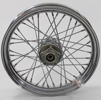 Chrome 40-Spoke Front Wheel, 18