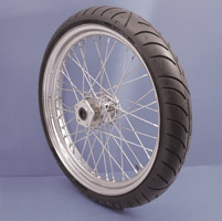 V-Twin Manufacturing Chrome 40-Spoke Front Wheel, 23