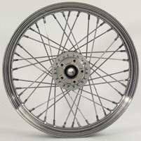V-Twin Manufacturing Chrome 40-Spoke Front Wheel, 19