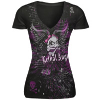 Lethal Threat Lethal Angel Winged Skull T-shirt