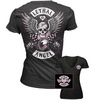 Lethal Threat Vintage Biker Black T-shirt