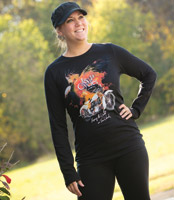 J&P Cycles® Color My World Black Long-Sleeve T-shirt