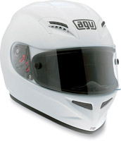 AGV Grid Solid White Full Face Helmet