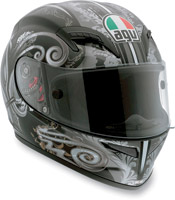 AGV Grid Stigma Black and Gunmetal Full Face Helmet