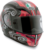 AGV Grid Stigma Black and Red Full Face Helmet