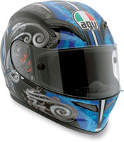 AGV Grid Stigma Black and Blue Full Face Helmet