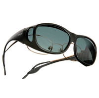 Live Eyewear OveRx Cast Black Sunglasses W/ Gray Lens