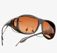 Live Eyewear OveRX Cast Black Sunglasses W/ Copper Lens