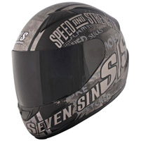 Speed and Strength SS1500 Seven Sins Black Full Face Helmet