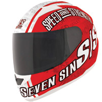 Speed and Strength SS1500 Seven Sins Red Full Face Helmet