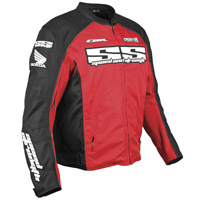 Speed and Strength CBR Project H Red and Black Textile Jacket