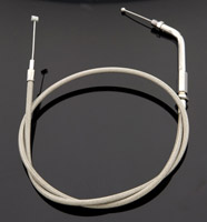 Drag Specialties Stainless Steel Throttle Cable