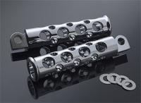 Battistinis Chrome C-Thru Round Hole Footpegs