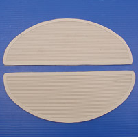 V-Twin Manufacturing White Floorboard Mats