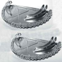 V-Twin Manufacturing Chrome Floorboards with Chain Trim