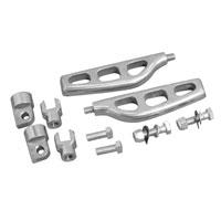 V-Twin Manufacturing Billet Machine Footpegs with Male and Female Mounts