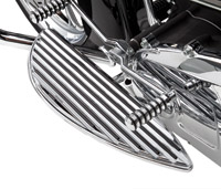 Arlen Ness Retro Chrome Driver Floorboards