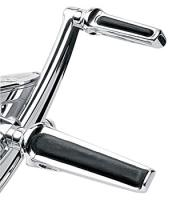 Performance Machine Chrome Contour Footpegs with Pivot