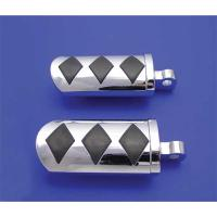 Chrome Diamond Style Adjustable Footpeg Set