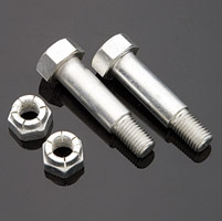 Colony Cad-Plated Footpeg Mounting Shoulder Bolt and Nut Kit