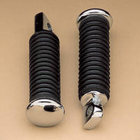 J&P Cycles® Rubber Footpegs with Chrome End Caps