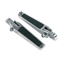 J&P Cycles® Footpegs with Rubber Inlay