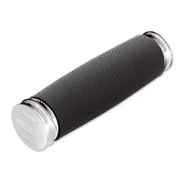Arlen Ness Soft-Touch Scalloped Chrome, Knurled Rubber Shifter Peg