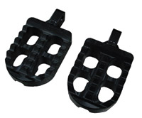 Joker Machine Black Short Adjustable Serrated Footpegs