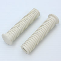 V-Twin Manufacturing White Passenger Footpeg Rubbers