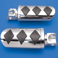 V-Twin Manufacturing Diamond Design Adjustable Footpegs