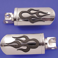 V-Twin Manufacturing Flame Design Adjustable Footpeg Set