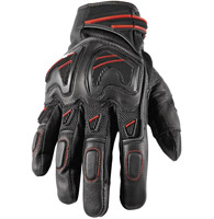 Speed and Strength Moment of Truth SP 2.0 Black Leather/Mesh Gloves with Red Accents