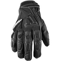 Speed and Strength Moment of Truth 2.0 Black Leather/Mesh Gloves
