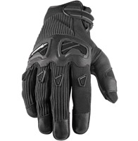 Speed and Strength Off the Chain Black Leather/Textile Gloves