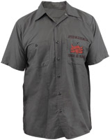 Speed and Strength Tough as Nails Gray Work Shirt