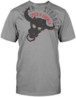 Speed and Strength Bull Headed Storm Gray T-shirt
