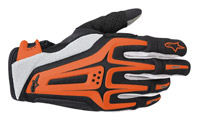 Alpinestars Dual Black, Orange, and White Gloves