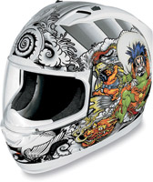 ICON Alliance Shakki White Full Face Helmet