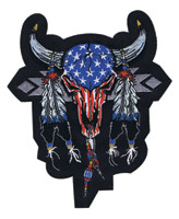 Lethal Threat USA Cowskull Patch